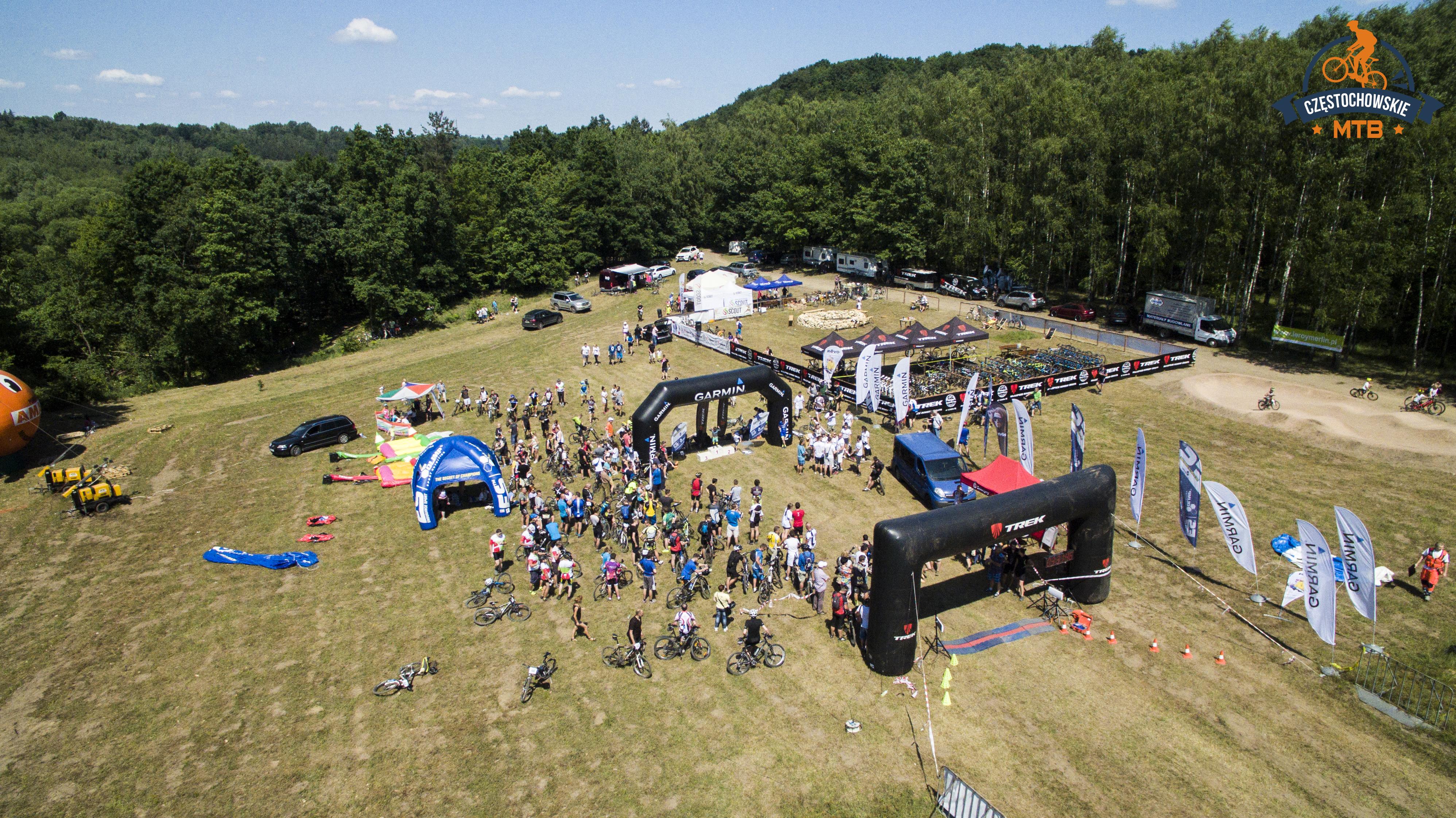 Dron i sport – filmujemy MTB Częstochowa