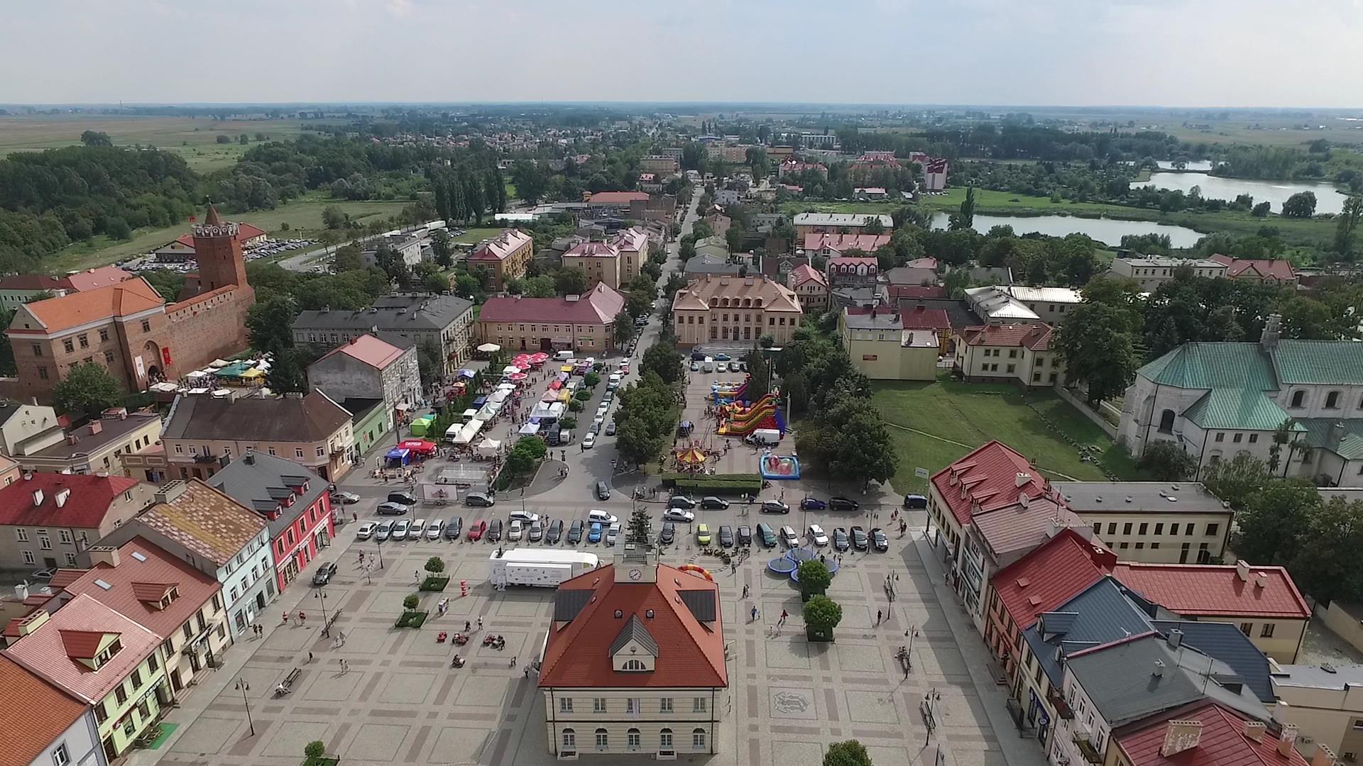 Turniej rycerski w Łęczycy z lotu ptaka