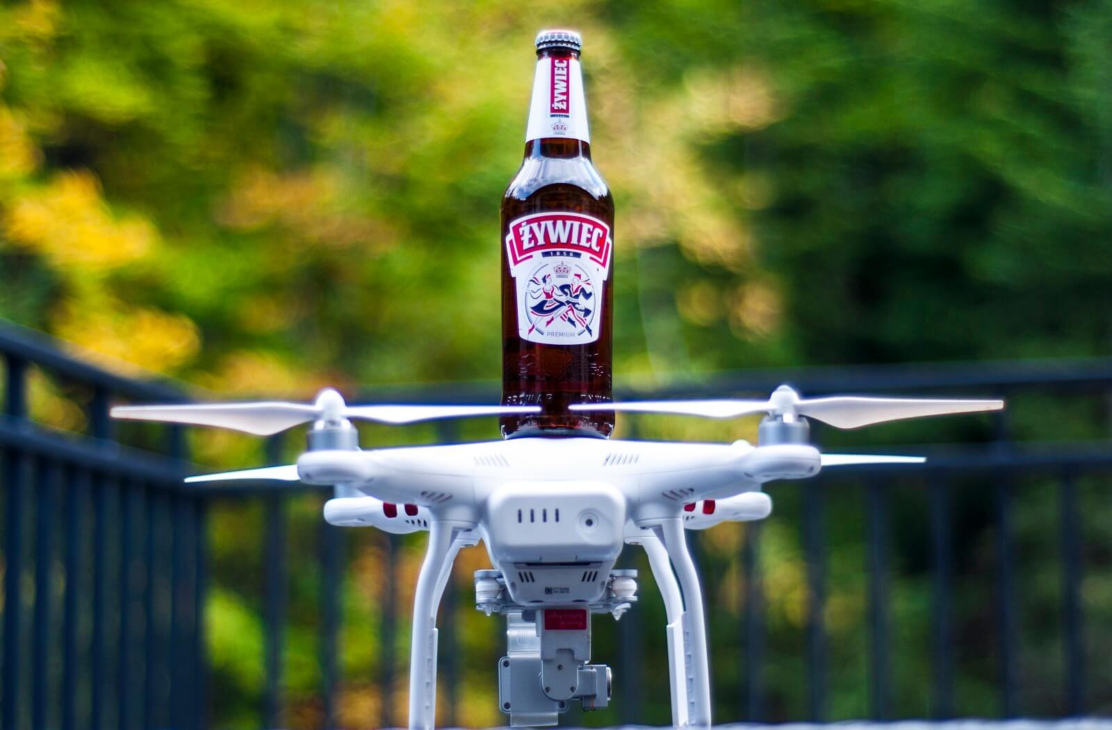 Żywiec z drona