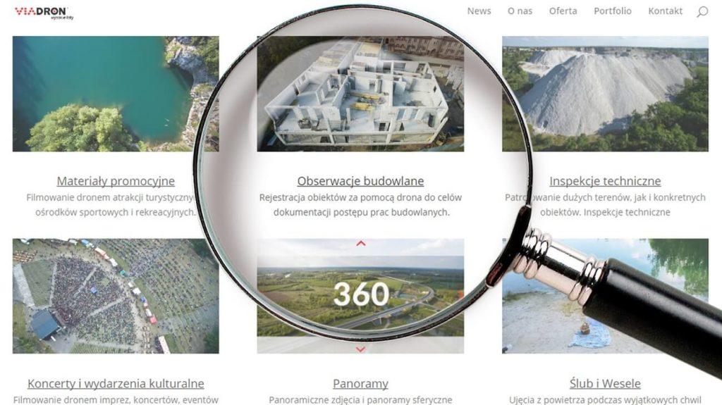 Profesjonalne usługi dronem_strony internetowe portfolio